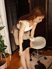 Erotic massage for redhead japanese girl